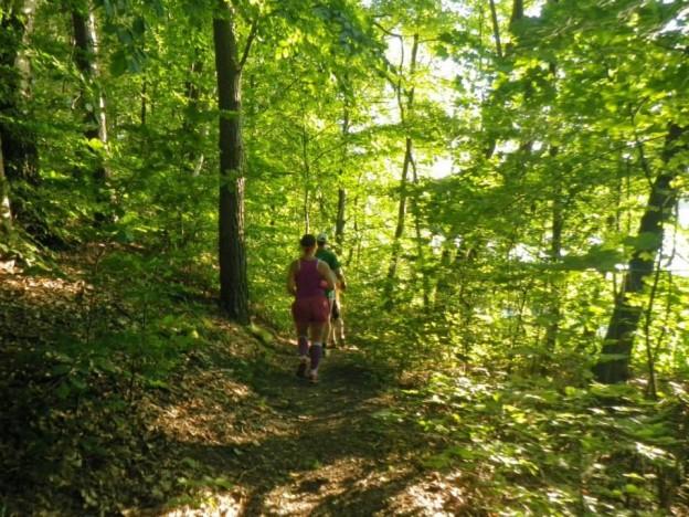 Laufen und Yoga im Laufpark Stechlin