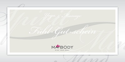 Geschenk-Gutschein. MBODY Massage & Yoga © Sonja Eigenbrod