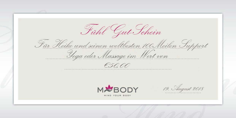 MBODY Geschenk-Gutschein so individuell wie die Massagen und das Yoga